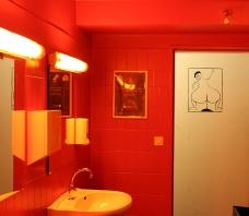 Cairo Headlines: Men's Restroom.