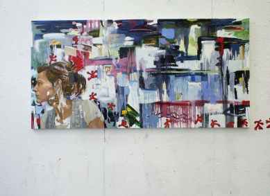 Oil on canvas and acrylic on walls, 2008.