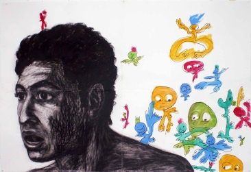 India ink, charcoal and acrylic on paper, 195 cm x 130 cm, 2007