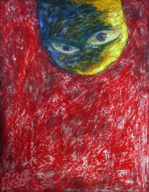 Oil pastel and acrylic on paper, 50 cm x 65 cm, 2007.