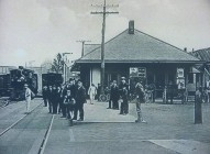An archival photo of the same site which used to be a train station. It was functional between 1856 and the 1950s.