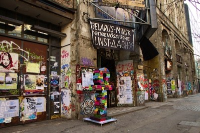 In Front of Tacheles building in Berlin, Germany.