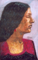 Oil pastel on paper, 35 cm x 50 cm, 2003