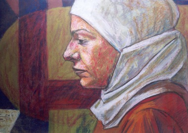 Oil pastel on paper, 35 cm x 50cm, 2003