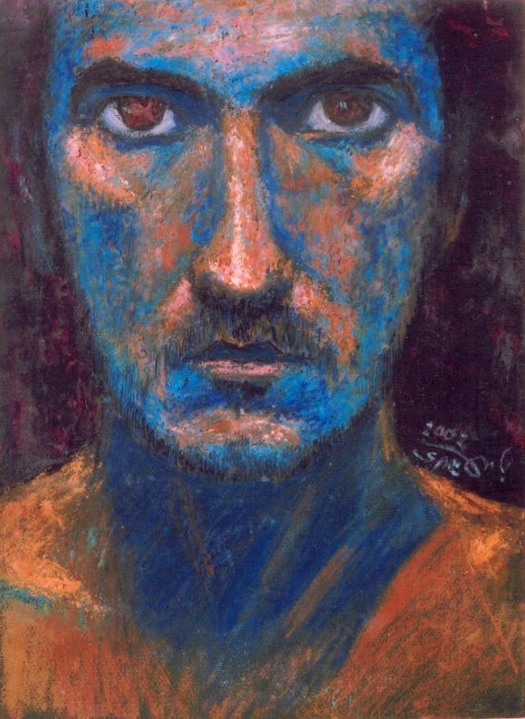 Oil pastel on paper, 17 cm x 35 cm, 2003 (Property of Tamer abu Ghazaleh)